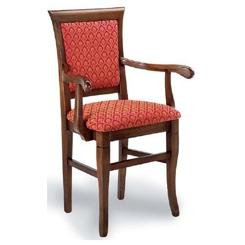 Wooden chair with armrests