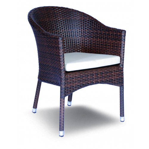 Aluminum armchair KONGO