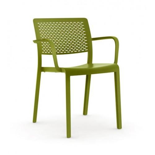 Plastic armchair TRAMA/P