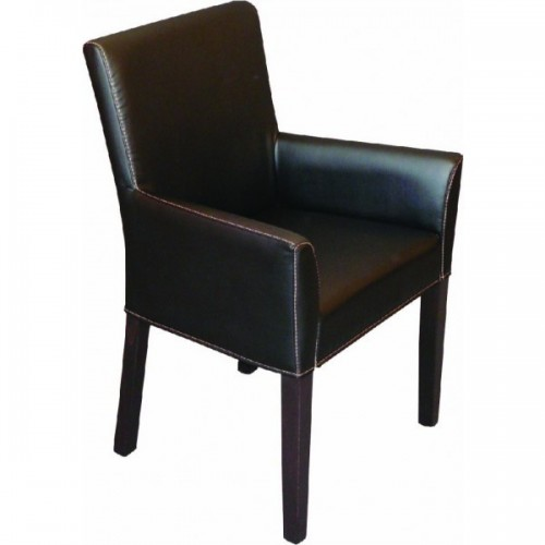 Wooden upholstered armchair VIOLA