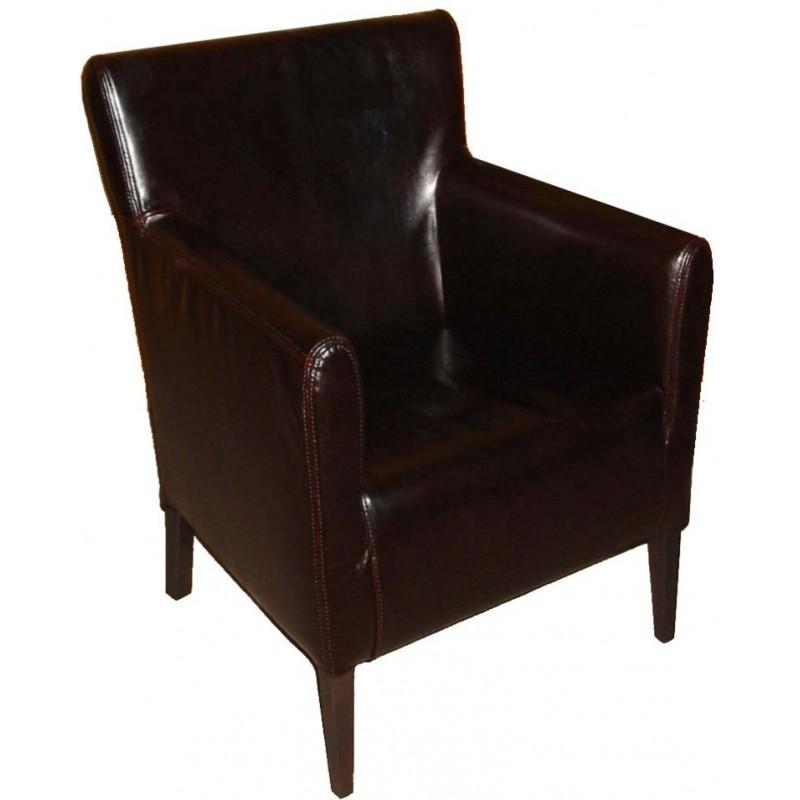 Wooden upholstered armchair HUGO