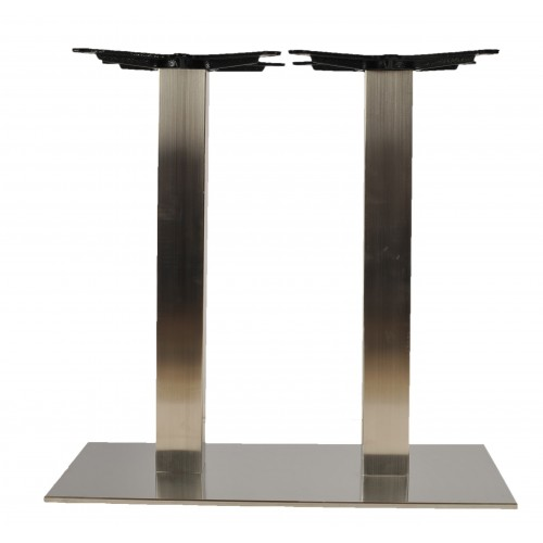 Inox double table base