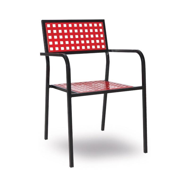 Metal armchair VIRGINIA/P