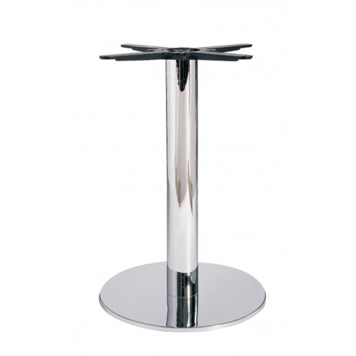 Chromed iron table base - flat