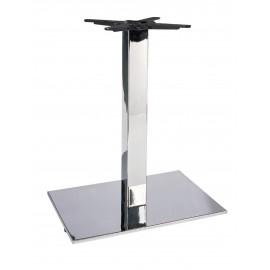 Chromed iron table base - flat