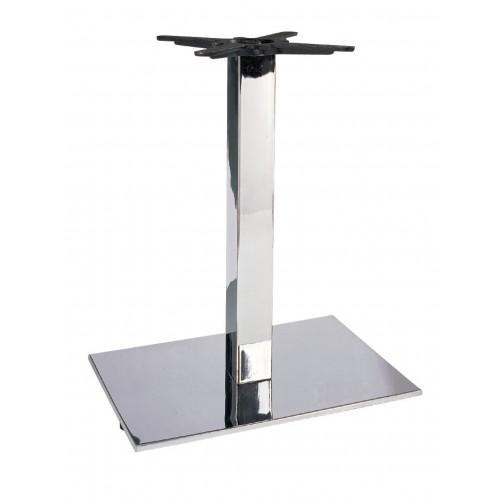 Chromovaná stolová podnož - plochá