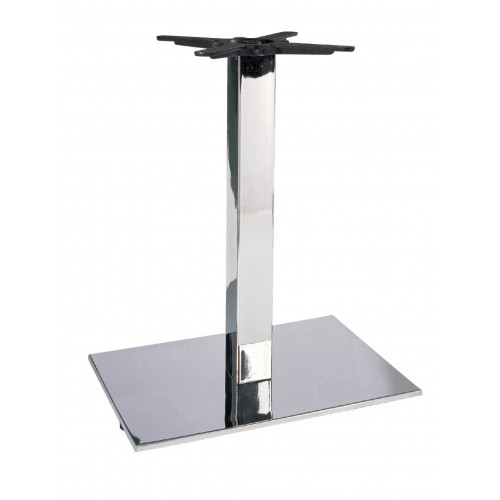 Krómozott asztalláb - lapos