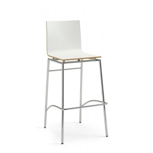 Kovová barová stolička Chloe L DF B