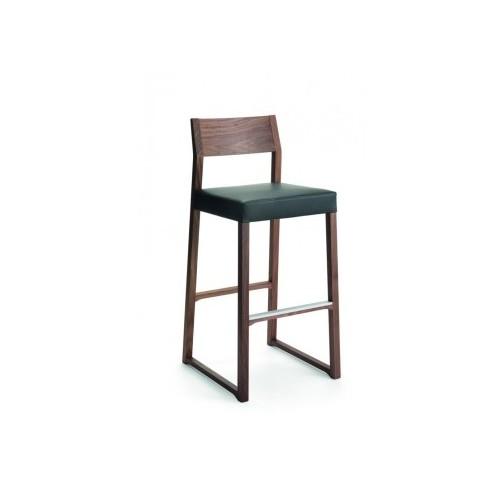 Wooden bar stool LINEA