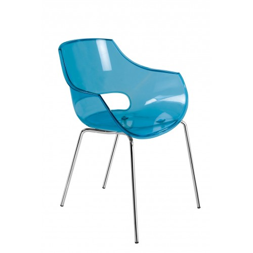 Plastic chair OPAL TRANSPARENT