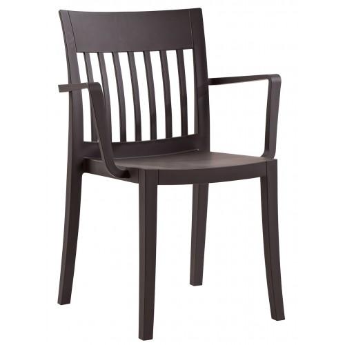 Plastová stolička s podrúčkami EDEN K