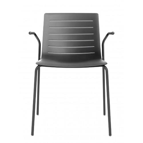Plastová stolička s podrúčkami SKIN
