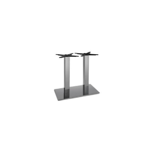 Chromed double table base