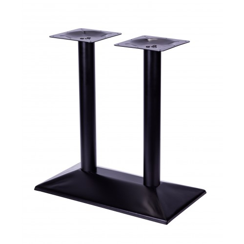 Steel double table base
