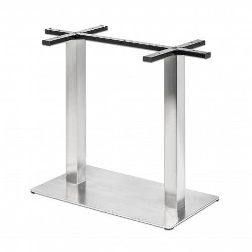 Inox double table base