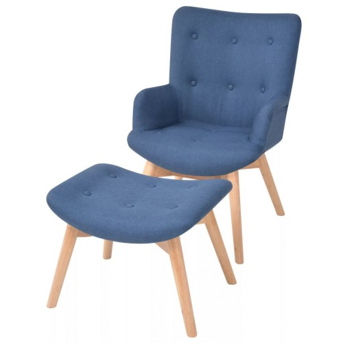 Armchair with footstool 4662