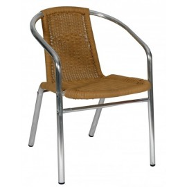 Aluminum outdoor chair LEA