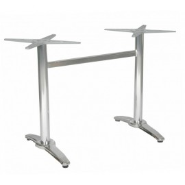 Aluminum double table base Roma