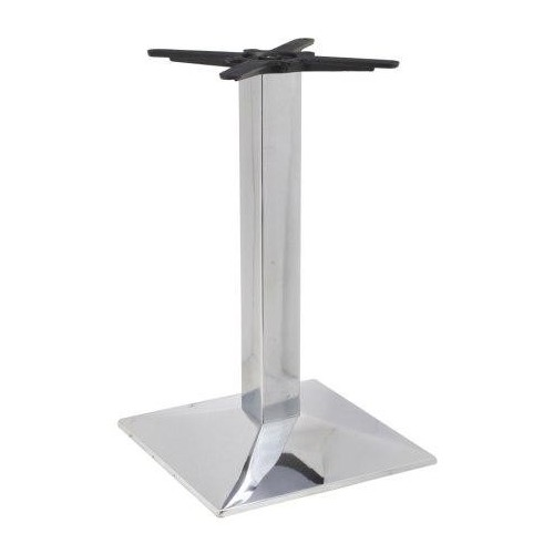 Chromed iron table base